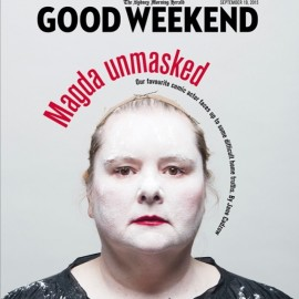 Magda Szubanski cover of Good Weekend Magazine